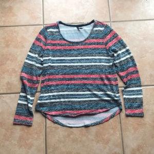 3/$30 Massini Striped Colorblock Sweater Size XL